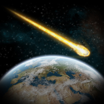 Asteroid and Earth : meteor impact over europe