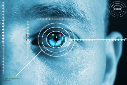 security iris scan fo access