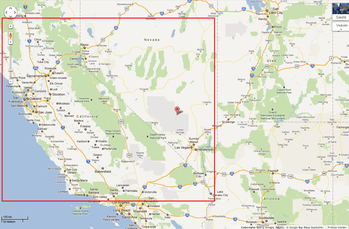 area 51 sightseeing with google satellite maps. Black Bedroom Furniture Sets. Home Design Ideas