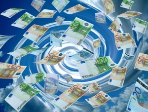 real photo of money<br />  currencies and sky