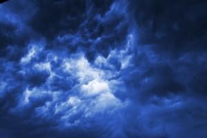 Gloomy thunderclouds