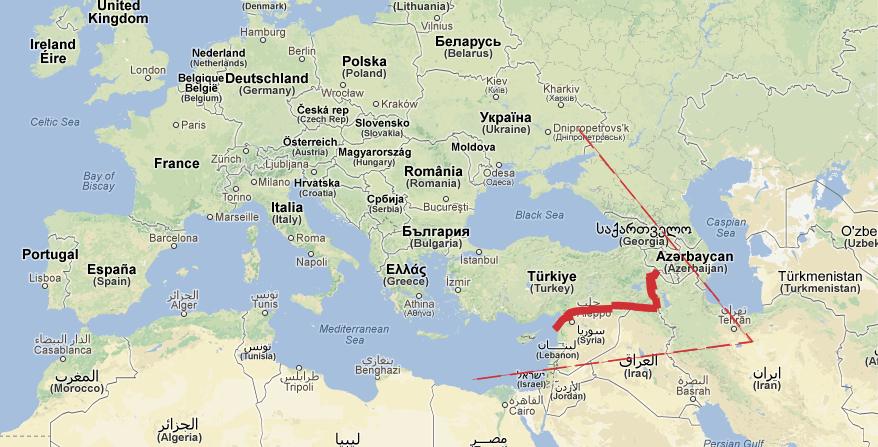 grenze türkei iran karte