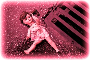 Symbol für Misshandlung und Missbrauch von Kindern