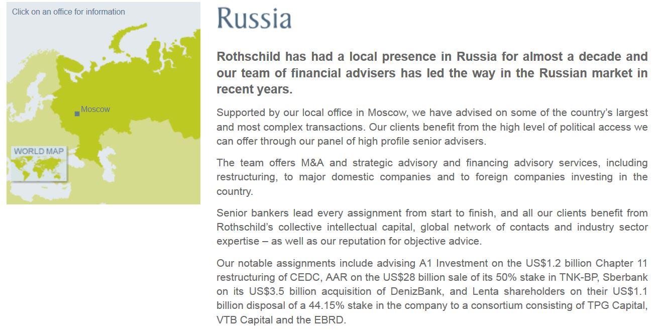 Rothschild Imperium in Russland