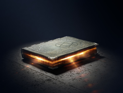 Magic Book with super powers - 3D Artwork