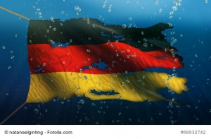 Germany Under Water Sea Flag National Torn Bubble 3D