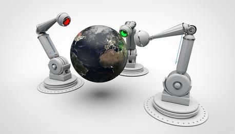 3 Bras Robotisés - Caméra de couleur - Globe