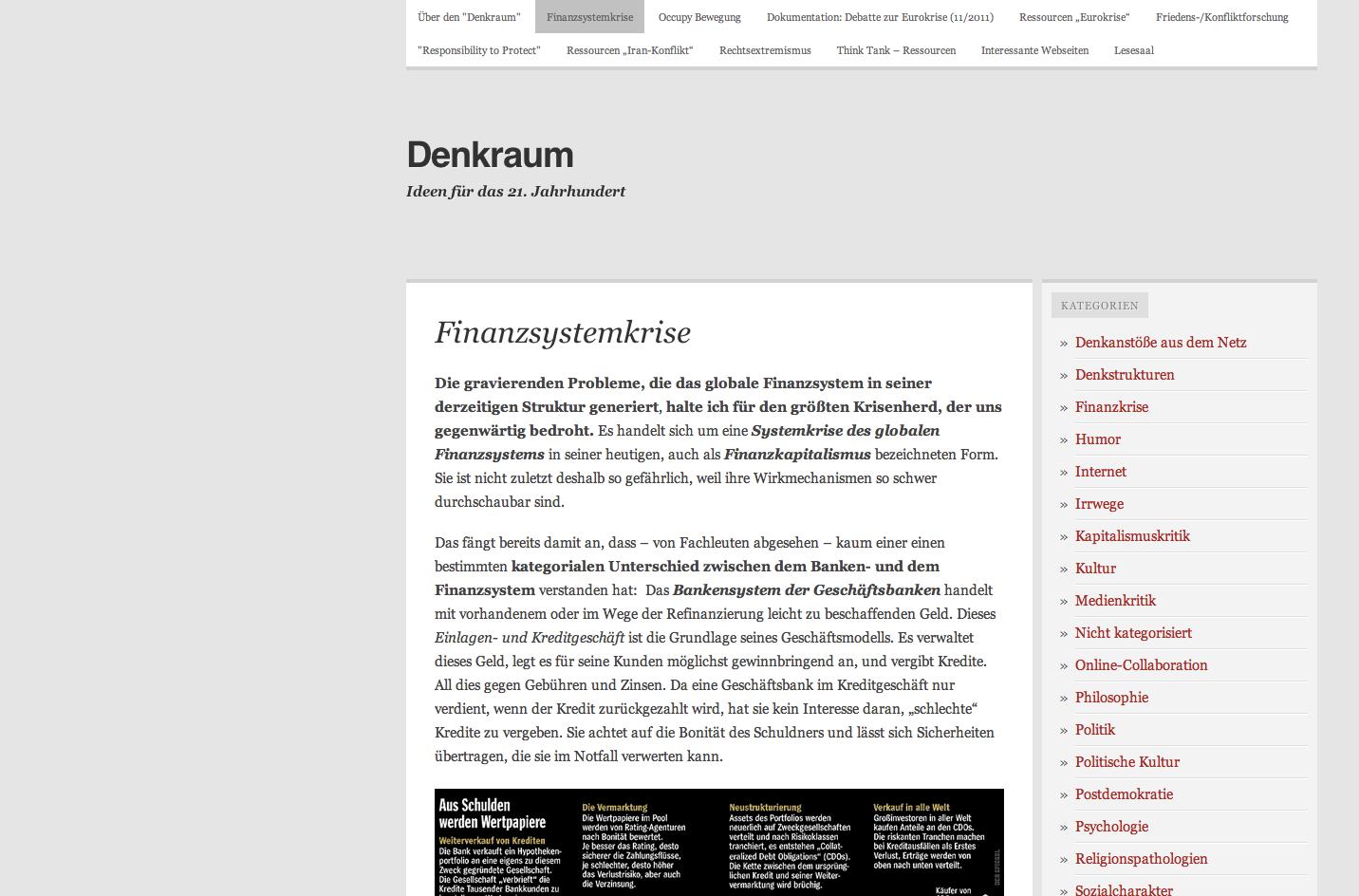 Denkraum Blog
